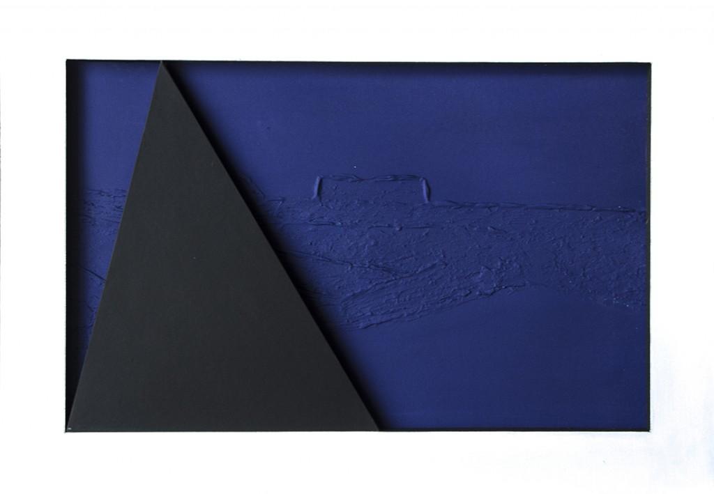 plava slika s crnim poljem . 2015.g.